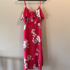 Band of Gypsies long rose floral ruffle bust dress